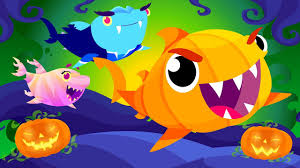 baby shark u0027s halloween halloween songs by little angel youtube