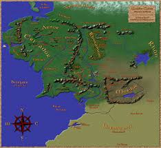 Map Middle Earth Middle Earth Map Twilight U0026 Shadow