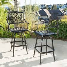 Hton Bay Swivel Patio Chairs Swivel Patio Bar Stools You Ll Wayfair