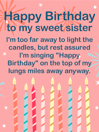birthday candle cards for sister birthday u0026 greeting cards by