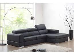 canape d angle noir canapé d angle en cuir cuir 5 coloris baldini ii