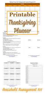 free printable thanksgiving planner 6 forms included