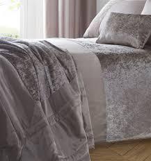 luxury crushed velvet panel duvet cover bedding set curtains