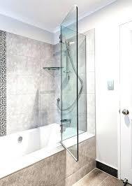 Shower Door Tub Bath Doors Glass Frameless Bath Door Glass Bath Screen Folding