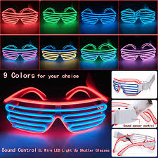party sunglasses with lights glowing el wire led strip sunglasses light sound control led light