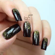 gold glitter gradient nail art with video tutorial lucy u0027s stash