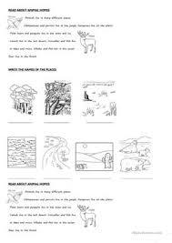7 free esl animal homes worksheets