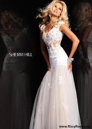sherri hill 21012 ivory beaded lace prom dresses rissyroos com