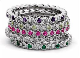 stackable birthstone rings mothers rings birthstones tiny diamonds eternity ring