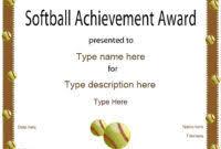 softball certificate templates free 5 u2013 best u0026 high quality