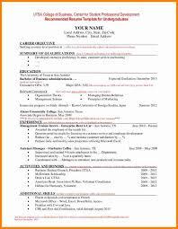Sample Resume For Undergraduate Students by 7 Student Cv Samples Debt Spreadsheet