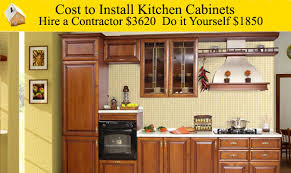 Do It Yourself Cabinets Kitchen Cost To Install Kitchen Cabinets Youtube