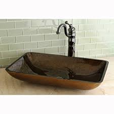 Non Scratch Kitchen Sinks by Rectangle Tempered Glass Vessel Sink Non Porous Scratch