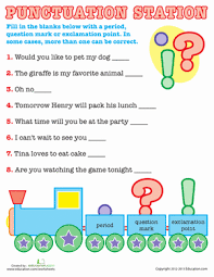basic punctuation punctuation worksheets and sentences