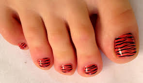 pedicur nail art zebra toe nail art design педикюр