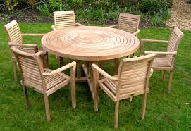 furniture round table teak outdoor furniture with 6 chairs for