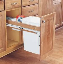 Kitchen Cabinet Trash Can Pull Out Built In Trash Cans Cabinet Slide Out Under Sink For