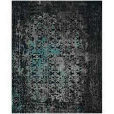 safavieh classic vintage navy teal 8 ft x 10 ft area rug clv223c