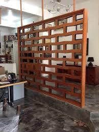Modern Bedroom Wall Unit Original Flat Mahogany Screen Room Divider 1950s Screens Mid
