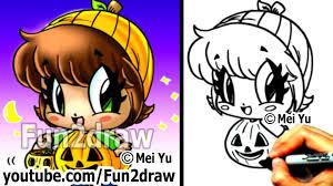 pumpkin fun2draw pencil and in color pumpkin fun2draw