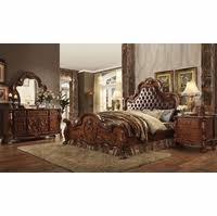 cherry oak bedroom set ornate upholstered 4pc king bedroom set in traditional cherry oak
