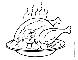 day turkey coloring pages for kids fried turkey printable free