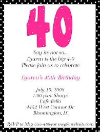 40th birthday party invitation wording minimalist srilaktv com