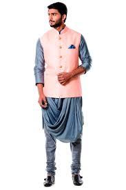kurta colors cotton silk and raw silk fabric grey and pink color kurta for men