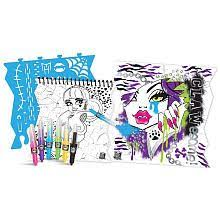 monster high sprayffiti fashion portfolio set fashion portfolio