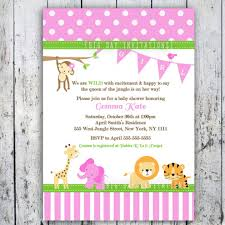 top collection of pink safari baby shower invitations for you