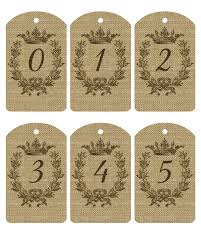 free printable burlap number tags 1 20 the cottage market