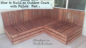 Pallet Furniture Patio by How To Build An Outdoor Couch With Pallets Part 1