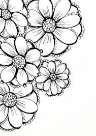 Flowers Designs For Drawing Set Of Flowers Vector Illustration Drawing Flowers Drawings