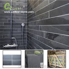 Black Slate Bathrooms High Quality Honed Surface Black Slate Bathroom Wall Tile From