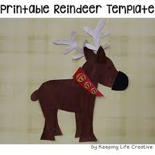 reindeer printable craftivity template by keeping life creative tpt
