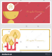 confirmation invitation communion confirmation invitation card stock vector 95116063