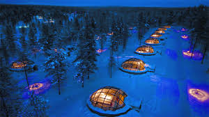 northern lights trip iceland stay in a glass igloo at kakslauttanen igloo hotel finland