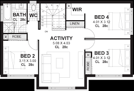 floor plans for a 4 bedroom house 4 bedroom house plans home designs perth vision one homes