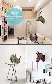 diy laser cut wooden moose animal heads wall art decor modern home