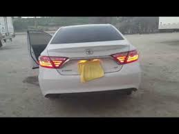 2015 toyota camry tail light 2015 camry led tail lights youtube