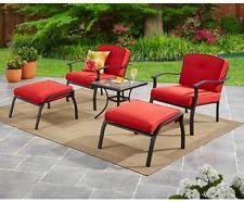 Red Patio Set by 5 Piece Patio Furniture Conversation Set Outdoor Leisure Ottoman