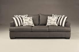 signature design by ashley levon charcoal queen sleeper sofa