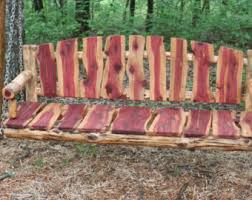 5 ft eastern red log porch swing rustic porch swing log