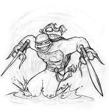 donatello sketch free ninja coloring pages gianfreda net