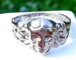art deco skeleton ring holder images Grooms skull ring etsy jpg