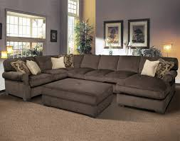 Gray Microfiber Sectional Sofa U Shaped Gray Microfiber Sectional Sofa With Right Chaise Lounge