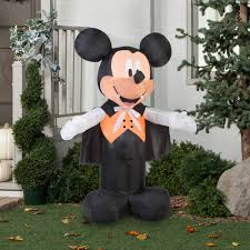 gemmy airblown inflatable 5 u0027 x 3 5 u0027 mickey mouse vampire halloween