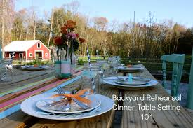 rustic dinner table settings backyard rehearsal dinner table setting 101 rustic wedding chic