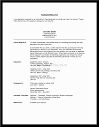 Best Internship Resumes by Objective For College Resume Berathen Com