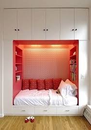 interior design and red sofa cubtab living room with wall painting